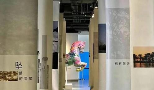 钟汉良在上海举办了艺术展,3D投影和AR技术成亮点