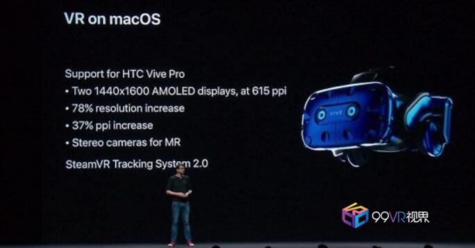 苹果公司宣布MacOS Mojave将全力支持Vive Pro