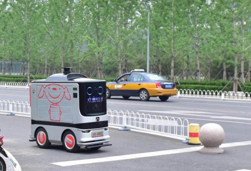 海淀出现AI送货车!