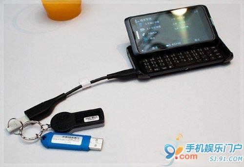 诺基亚E7真机试玩 可外接鼠标键盘